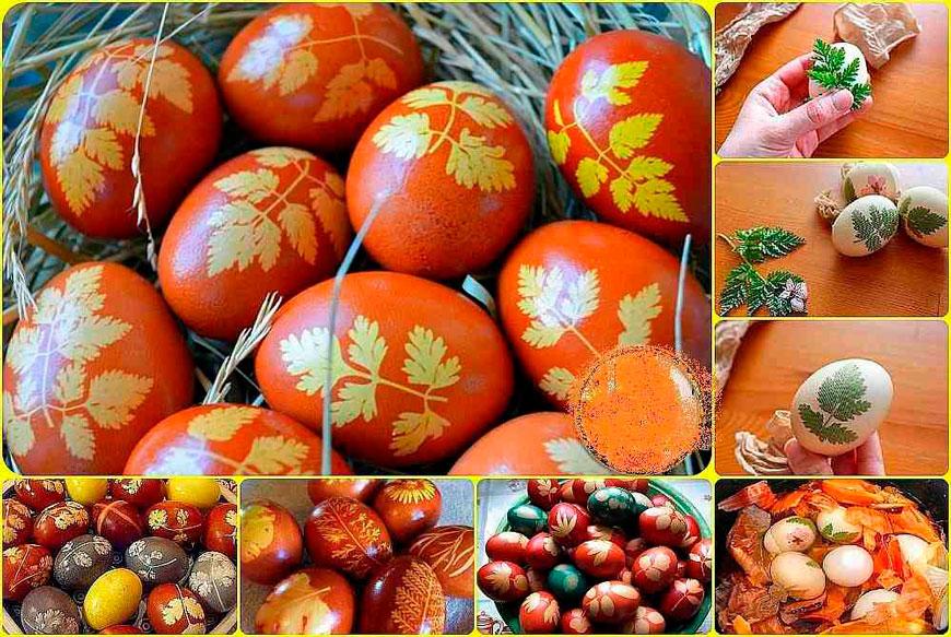 как правильно покрасить яйца в луковой шелухе 2