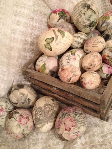 Идеи покраски яиц салфетками на Пасху 3