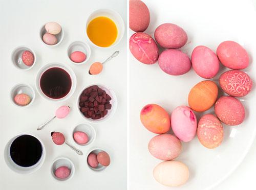 покрасить яйца свеклой рецепт с фото