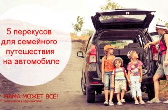 перекус в машине с детьми