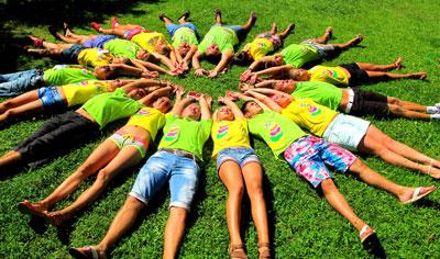 детский лагерь на каникулах