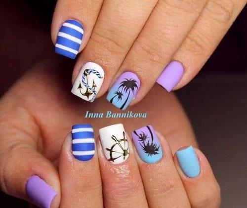 дизайн маникюра на короткие ногти 10