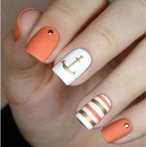 дизайн маникюра на короткие ногти 5
