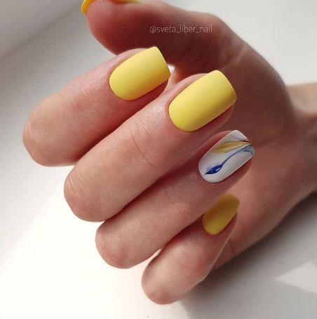 дизайн маникюра на короткие ногти 2
