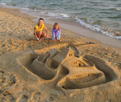 игры на пляже для детей в лагере