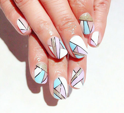 маникюр на короткие ногти летний дизайн