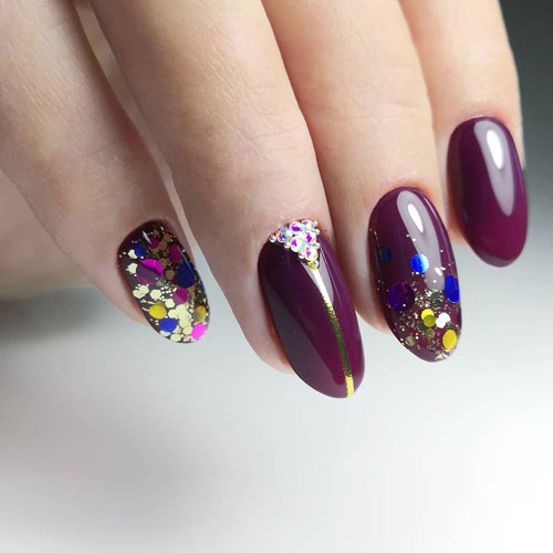 летний дизайн маникюра ногтей
