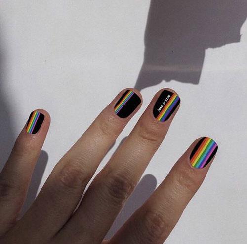 Летний дизайн маникюра на короткие ногти 9