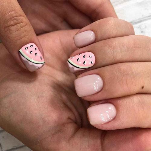 маникюр дизайн 2021 летний на короткие ногти