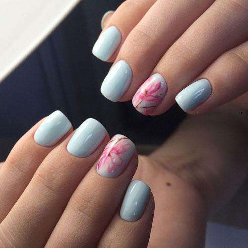 маникюр дизайн на короткие ногти яркий летний