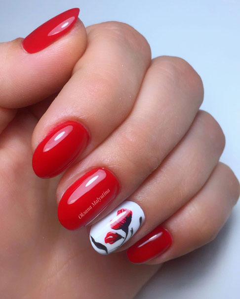 летний нежный маникюр квадратные ногти дизайн