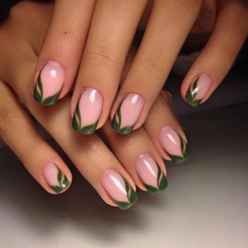 летний дизайн маникюра на длинные ногти
