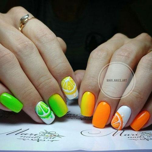 разноцветный маникюр пастельных цветов