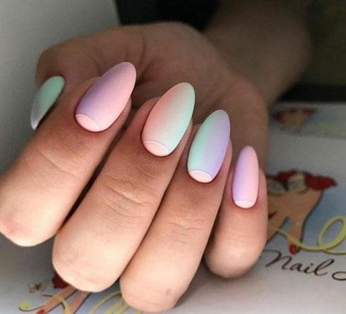 маникюр весна разноцветные ногти