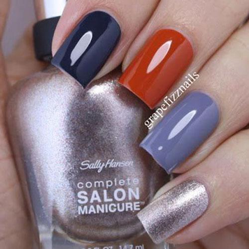 маникюр на короткие ногти разноцветный пастельный