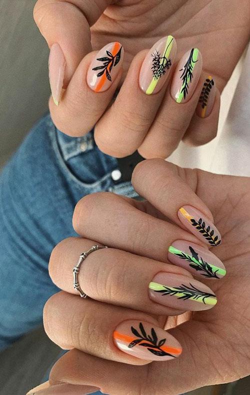 маникюр разноцветные ногти в пастельных