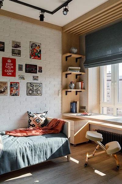 фото оформления спальни подростка в современном стиле 2
