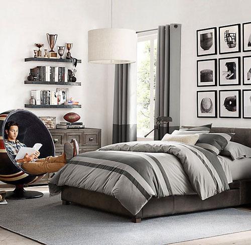фото оформления спальни подростка в современном стиле 10