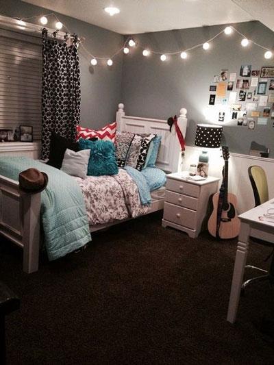 Идея оформления спальни подростка в современном стиле 2