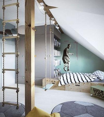 фото оформления спальни подростка в современном стиле 6