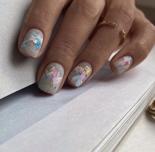 маникюр разноцветные ногти сочетание