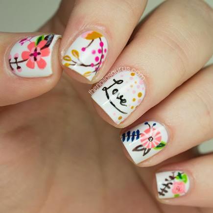 разноцветный маникюр на коротких ногтях сочетание цветов