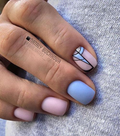 маникюр дизайн разноцветных ногтей