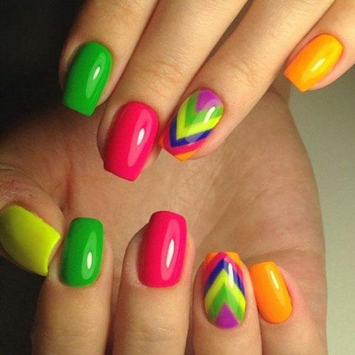 маникюр разноцветные пальцы