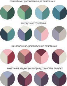 Разноцветный маникюр сочетание цветов схемы