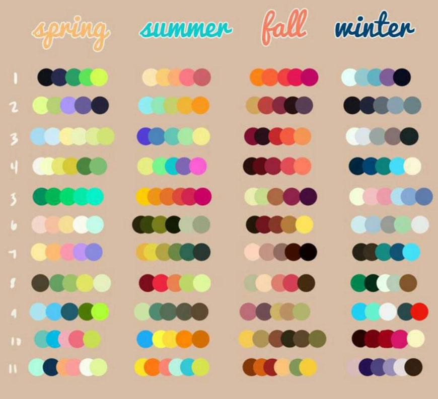 Разноцветный маникюр сочетание цветов схемы 2