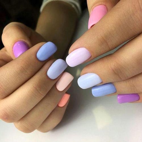 маникюр разноцветные ногти сочетание цветов 2