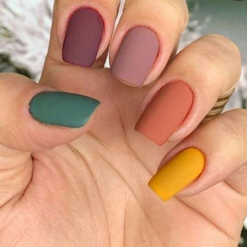 маникюр разноцветные ногти сочетание цветов