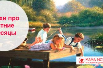 Стихи про месяца лета для детей