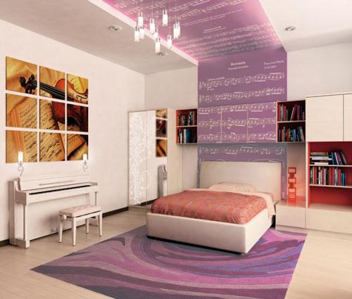 спальня девушки подростка в современном стиле 2
