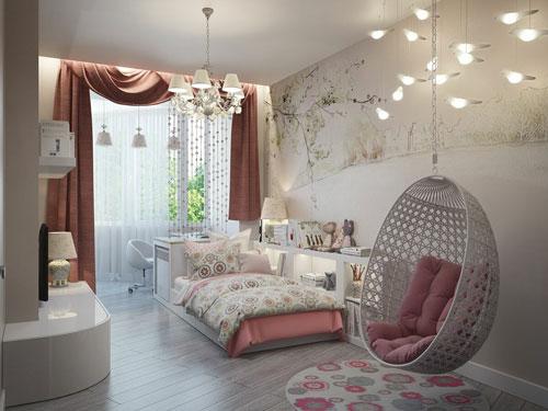 Комната девушки подростка в современном стиле 2