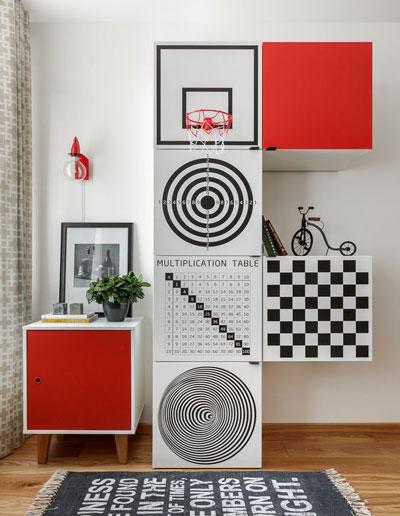 Хранение в спальне подростка в современном стиле 2