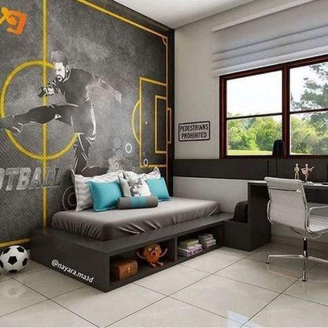 Спальня в современном стиле для подростка 4