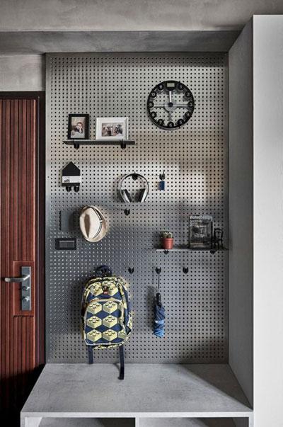 Хранение в спальне подростка в современном стиле