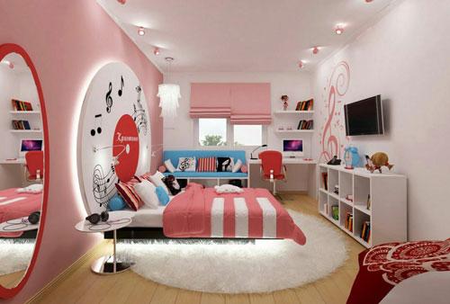 современный стиль в спальне для подростка