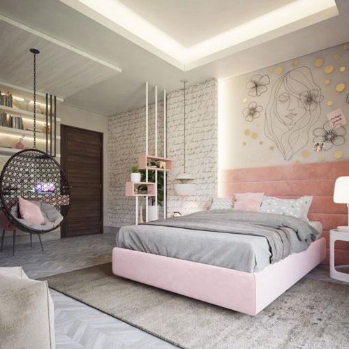 идеи оформления спальни подростка в современном стиле 9