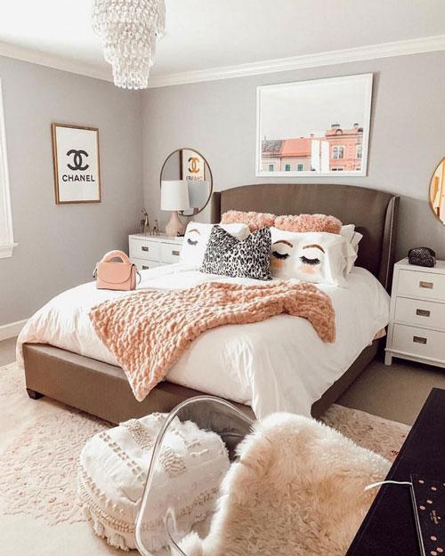 идеи оформления спальни подростка в современном стиле 8