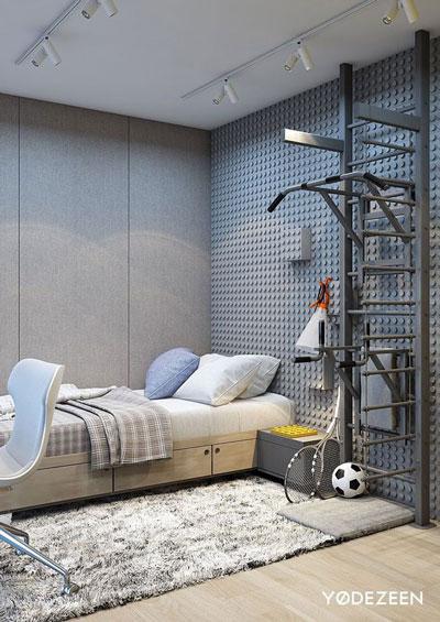 идеи оформления спальни подростка в современном стиле 3