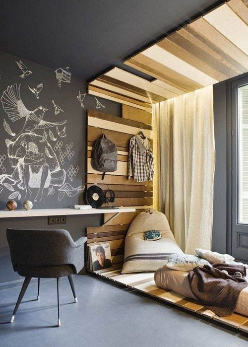 идеи оформления спальни подростка в современном стиле 7