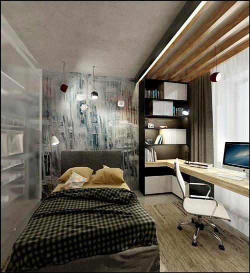 идеи оформления спальни подростка в современном стиле 5