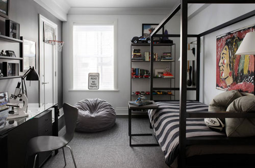 идеи оформления спальни подростка в современном стиле 6