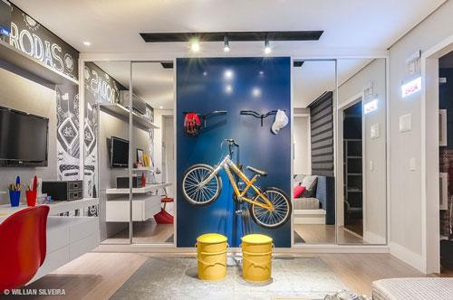 стильная спальня подростка в современном стиле 3