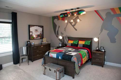 стильная спальня подростка в современном стиле