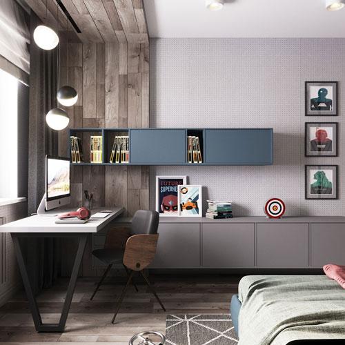 современная мебель для спальни подростка 3
