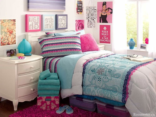 Идея оформления спальни подростка в современном стиле