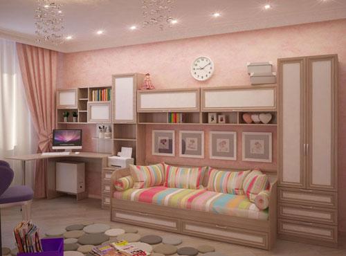 современные детские комнаты для девочки подростка